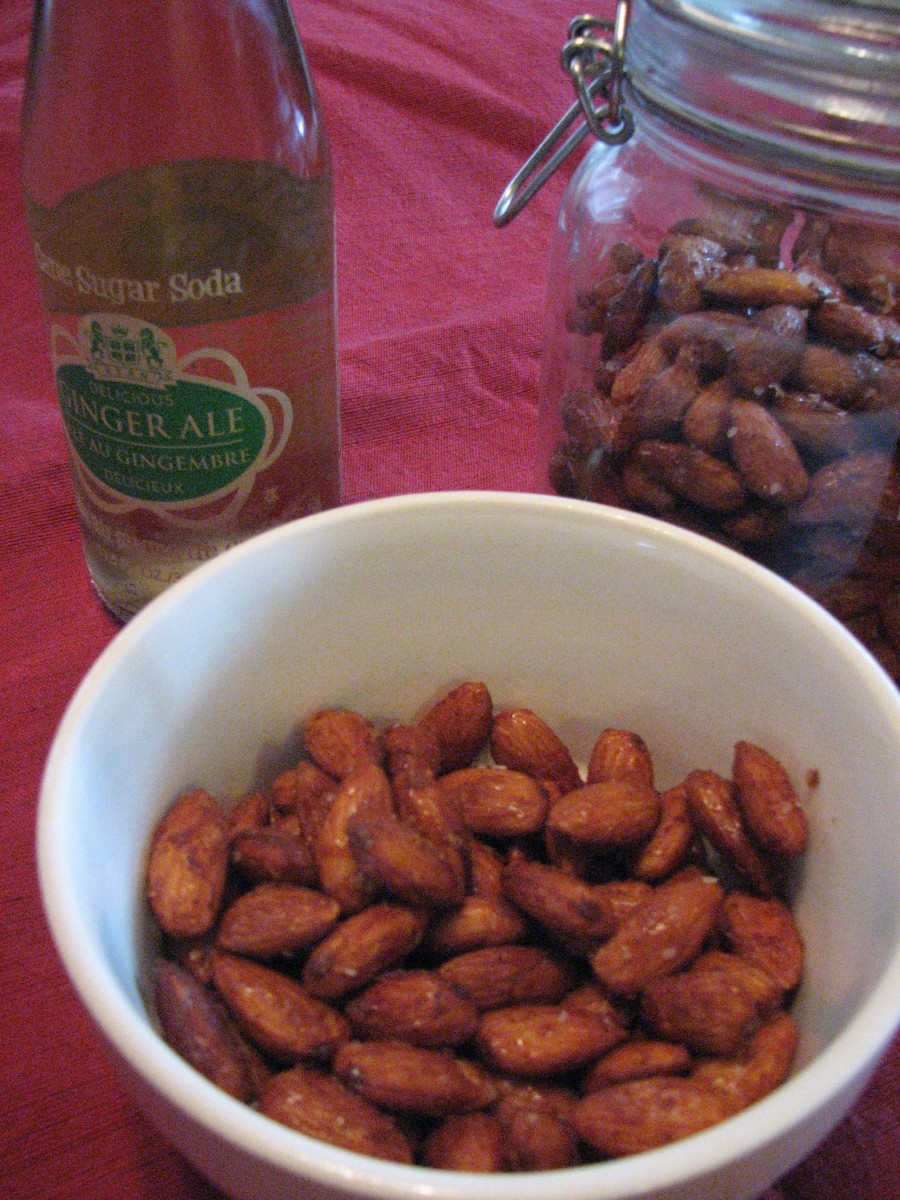 Almonds and Ginger Ale
