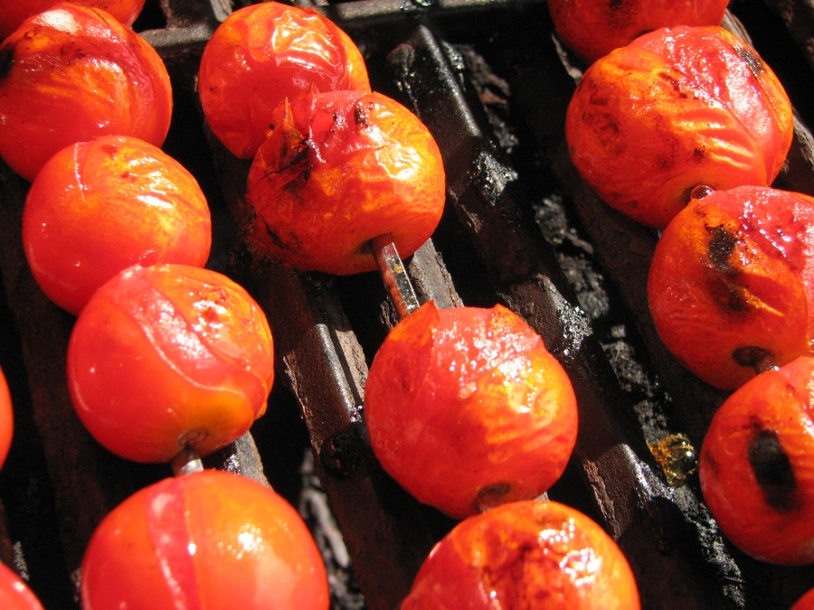 Lightly Charred Tomatoes