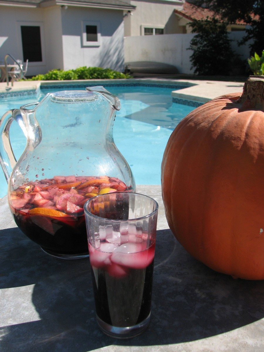 Autumn Sangria by the Pool