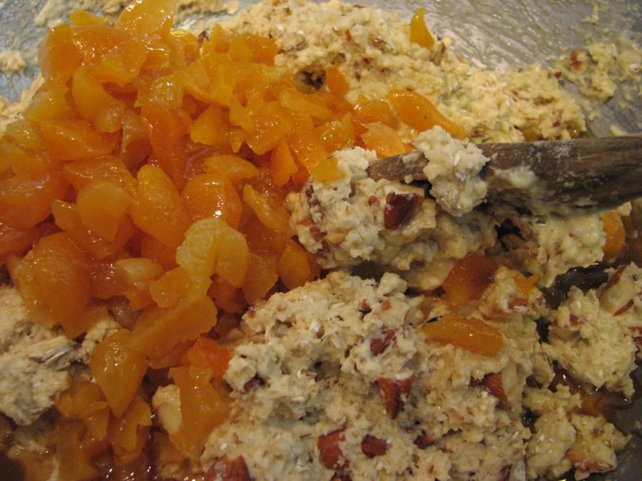 Stir in apricots